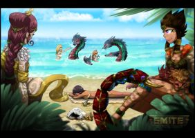 SMITE: Beach Party by The-F0X