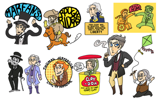 History Stickeroos by Clazziquai