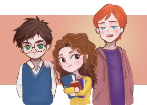 Golden Trio by lalabell