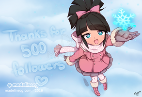 Thank You 500 Followers! by MadelineCG