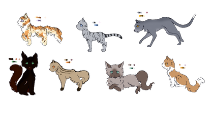 Warrior cats adoptables (Open) by Birch52