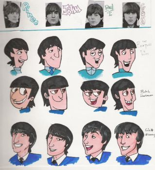 Beatles style Art project by NatAsplund