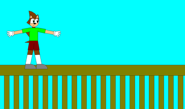 Me Walking The Railing by Eli-J-Brony