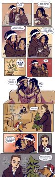 Person of Interest - Root and Shaw Christmas comic by Maarika