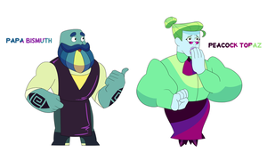 Papa Bismuth and Peacock Topaz by Pikokko