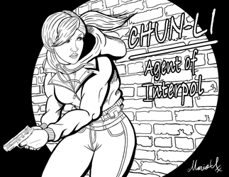 Undercover Chun Li Agent of Interpol Inked by MarioUComics