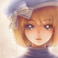 Shorthaired Girl Potrait by Maygreen
