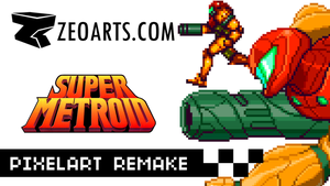 SAMUS PixelartRemake VIDEO by zeoarts