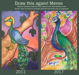 Draw This Again: Peacock by Idontknowwhoyouknow