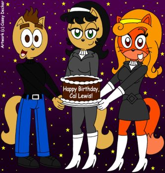 Cal, Kitty, and Dorothy - Birthday Surprise Trio by CaseyDecker