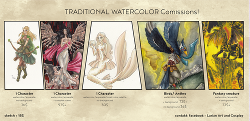 Traditional Paypal Comissions! by WaldelfLarian