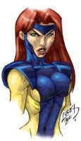 Jean Grey SKETCH COLORED 2011 by LucasAckerman