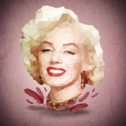 Marilyn Monroe Low Poly by riccardocurin