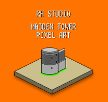 Maiden Tower Pixel Art by rasulh