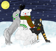 Frosty the snow-wolf by boxes-of-foxxes