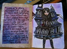 Sketchbook Project 2012 - pages 20-21 by Gothscifigirl