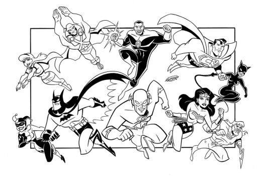 Justice League Plus Four by LostonWallace