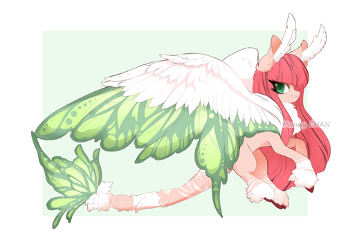 BUTTERFLY FURRY PONY AUCTION [CLOSED] by monnychanArt