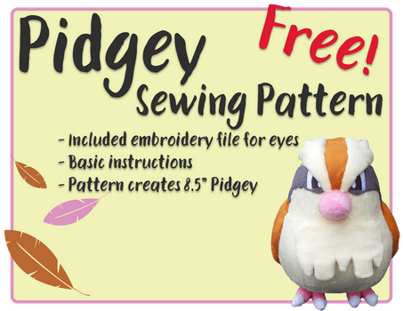 Pidgey - Free Sewing Pattern! by Fire-n-Fluff