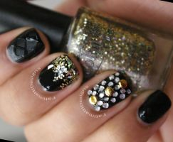 Blinged Out Gold by FatimattiDesigns