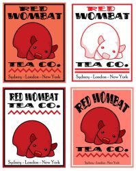 Four Red Wombats by ursulav