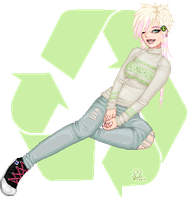 recycling. it makes you sexy. by valokilljoy