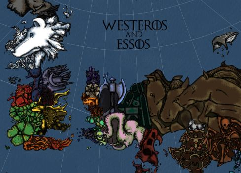 Westeros and Essos by ndburke