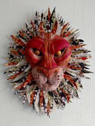 Lion Relief Wall Art by TheMeekWarrior