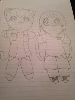 Vanilla and Juuichi dolls by ShadAmyfangirl129