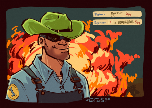 Cool guys don't look at explosions by TariToons