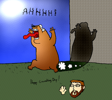 Happy Groundhog Day by Waxed-Mustache