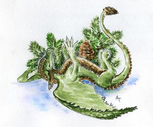 January Fir-Tree Dragon by Egarimea