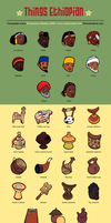 Things Ethiopian icon set by Majnouna