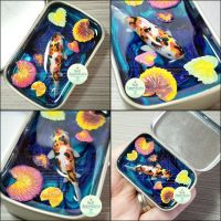 Commission - Small Altoids Koi Pond by PepperTreeArt