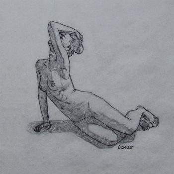 Charcoal Figure Sketch 70/100 by AngelGanev