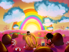 Candy World Sunset by n33rrx