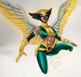 Hawkgirl 2018 sketch by LucianoVecchio