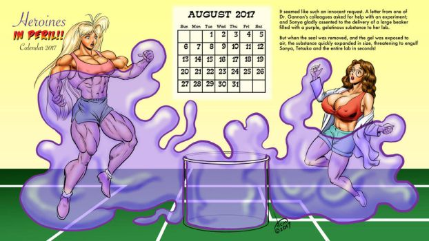 2017 Peril Calendar - August: Tetsuko and Sonya by DavidCMatthews