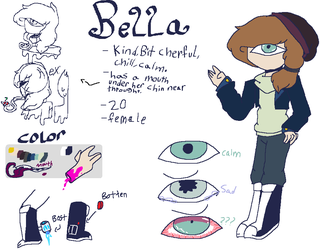 [new Oc And Ref] Bella by pinkie-the-sans20