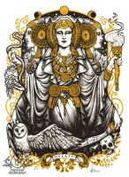 Iberian Hecate light by Medusa-Dollmaker