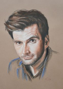 David Tennant full portrait 'Heforshe' by Andromaque78