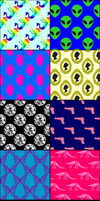 8 Misc. Patterns for Photoshop by PoliteDemon