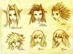 Kingdom Hearts Gelflings by ghostfire