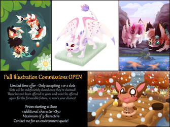 Full Illustration Commissions OPEN! by gIassmoth