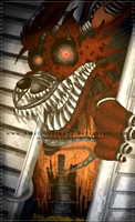 =FNAF= Nightmare Foxy! by Amel-Genius17