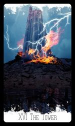 Rising Age Tarot: XVI The Tower by iamtequila