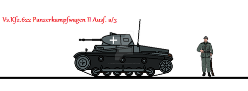 Vs.Kfz.622 Panzerkampfwagen II Ausf. a/3 by thesketchydude13