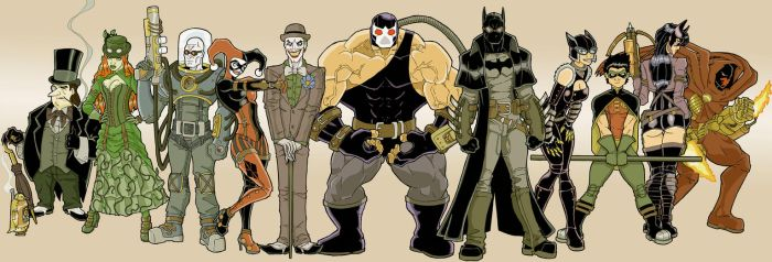 SteamPunk Batman and Co. by Fhiacha