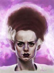Bride of Frankenstein Sketch by BrittMartin