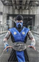 Leon Chiro as Sub-Zero - Mortal Kombat9 Cartoomics by LeonChiroCosplayArt